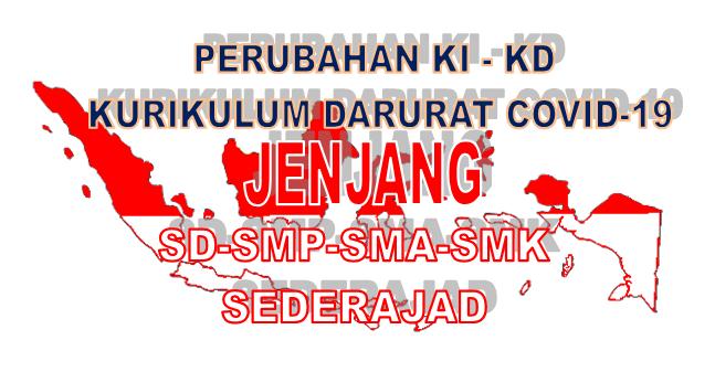 Download Perubahan KI dan KD Masa Darurat Covid-19 Jenjang SD, SMP, SMA, SMK