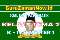 Soal UAS Kelas 5 Tema 2 Semester 1 Tahun 2020/2021