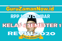 (Lengkap) RPP Format Satu Lembar Kelas 8 Semester 1