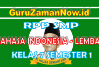 RPP Bahasa Indonesia 1 Lembar Kelas VII Semester 1