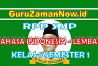RPP Bahasa Indonesia 1 Lembar Kelas VIII Semester 1