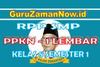 RPP PPKN 1 Lembar Kelas VIII Semester 1