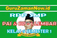 RPP PAI - BP 1 Lembar Kelas IX Semester 1