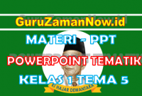 Materi PPT / Powerpoint Kelas 1 Tema 5 Semester 2
