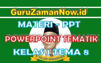 Materi PPT / Powerpoint Kelas 1 Tema 8 Semester 2