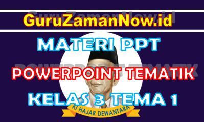 Materi PPT / Powerpoint Kelas 3 Tema 1 Semester 1