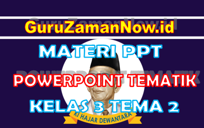 Materi PPT / Powerpoint Kelas 3 Tema 2 Semester 1