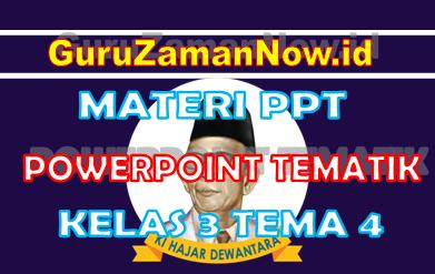 Materi PPT / Powerpoint Kelas 3 Tema 4 Semester 1