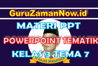 Materi PPT / Powerpoint Kelas 3 Tema 7 Semester 2