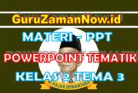 Materi PPT / Powerpoint Kelas 2 Tema 3 Semester 1