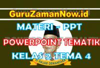 Materi PPT / Powerpoint Kelas 2 Tema 4 Semester 1