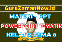 Materi PPT / Powerpoint Kelas 2 Tema 8 Semester 2