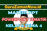 Materi PPT / Powerpoint Kelas 4 Tema 4 Semester 1