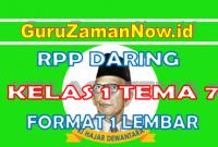RPP Daring / Online Kelas 1 Tema 7