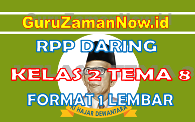 RPP Daring / Online Kelas 2 Tema 8
