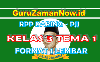RPP Daring Tematik Kelas 3 Tema 1 Masa Pandemi