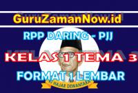 RPP Daring Tematik Kelas 1 Tema 3 Masa Pandemi