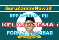 RPP Daring Tematik Kelas 2 Tema 1 Masa Pandemi