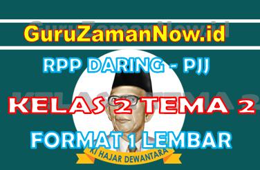 RPP Daring Tematik Kelas 2 Tema 2 Masa Pandemi