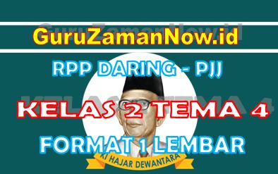 RPP Daring Tematik Kelas 2 Tema 4 Masa Pandemi
