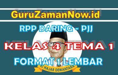 RPP Daring Tematik Kelas 4 Tema 1