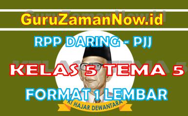 RPP Daring Tematik Kelas 5 Tema 5