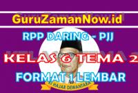 RPP Daring Tematik Kelas 6 Tema 2