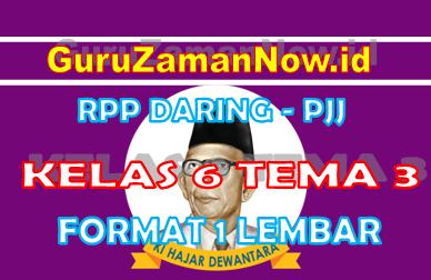 RPP Daring Tematik Kelas 6 Tema 3