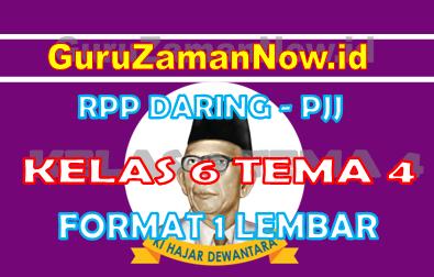 RPP Daring Tematik Kelas 6 Tema 4
