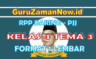 RPP Daring Tematik Kelas 4 Tema 3