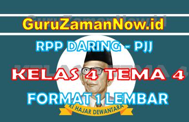 RPP Daring Tematik Kelas 4 Tema 4