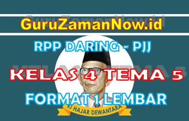 RPP Daring Tematik Kelas 4 Tema 5