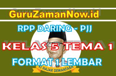 RPP Daring Tematik Kelas 5 Tema 1