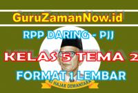 RPP Daring Tematik Kelas 5 Tema 2