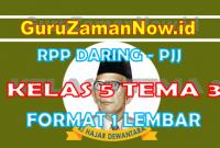 RPP Daring Tematik Kelas 5 Tema 3