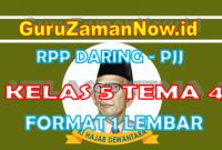 RPP Daring Tematik Kelas 5 Tema 4