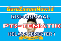 Kisi – Kisi PTS Tematik Kelas 2 Semester 1 (Sesuai Soal Tematik)