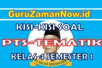 Kisi – Kisi PTS Tematik Kelas 4 Semester 1 (Sesuai Soal Tematik)