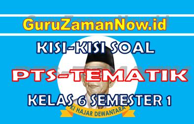 Kisi – Kisi PTS Tematik Kelas 6 Semester 1 (Sesuai Soal Tematik)