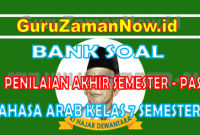 Soal UAS Semester 1 Bahasa Arab Kelas 7