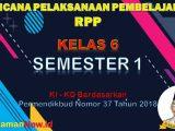 RPP Kelas 6 Semester 1 K13 Revisi 2018