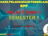 RPP Kelas 2 Semester 1 Tema 3