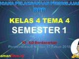 RPP Kelas 4 Semester 1 Tema 4
