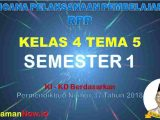 RPP Kelas 4 Semester 1 Tema 5