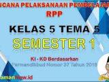 RPP Kelas 5 Semester 1 Tema 5