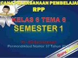 RPP Kelas 6 Semester 2 Tema 6