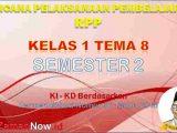 RPP Kelas 1 Semester 2 Tema 8