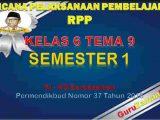 RPP Kelas 6 Semester 2 Tema 9