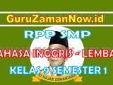 RPP Bahasa Inggris 1 Lembar Kelas IX Semester 1