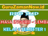 (Lengkap)-RPP Bahasa Inggris 1 Lembar Kelas VII Semester 1